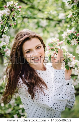 beautiful girl with a cherry stock photo © ashusha