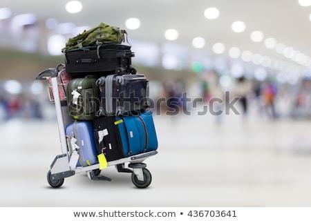 repülőtér · átmenő · forgalom · fotó · néz · vonat · bent - stock fotó © meinzahn