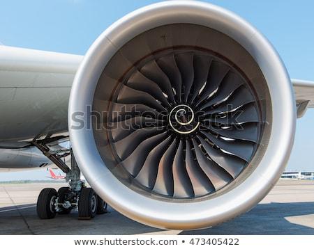vista · Jet · avión · motor · cielo - foto stock © shihina