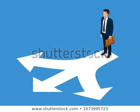 3d man business man choosing right path stock photo © designers