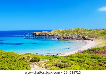 Mediterranean sea scenery with cliffs of Menorca island, Spain. Stock photo © tuulijumala
