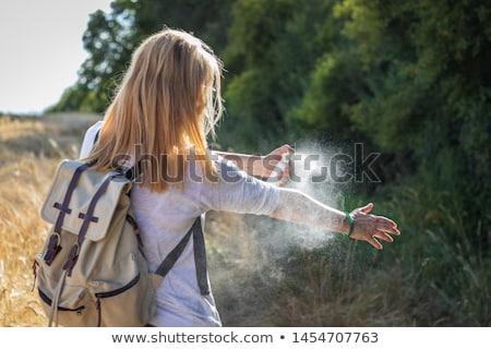 Sivrisinek sprey örnek durdurmak ağız kanatlar Stok fotoğraf © adrenalina