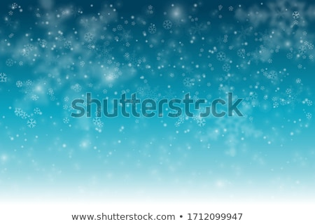 Blue Vector Christmas background with white snowflakes Stock photo © orson