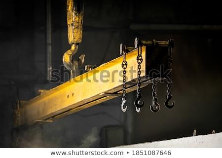 viga · construção · guindaste · edifício · em · movimento - foto stock © flipfine