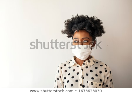 Afrika maske vektör görüntü siyah ahşap Stok fotoğraf © Yuran