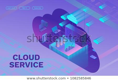 felhő · alapú · technológia · 3D · számítógép · ikon · izolált · hálózat · mobil - stock fotó © tashatuvango
