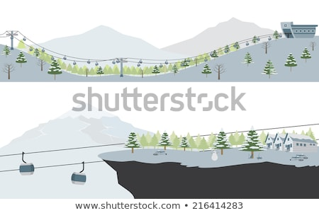 mountain station of chairlift stock photo © franky242