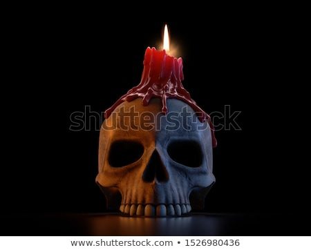 Skull And Candle Stock photo © cosma