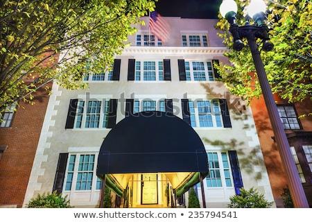 Huis gebouw tweede witte huis nacht Washington DC Stockfoto © billperry
