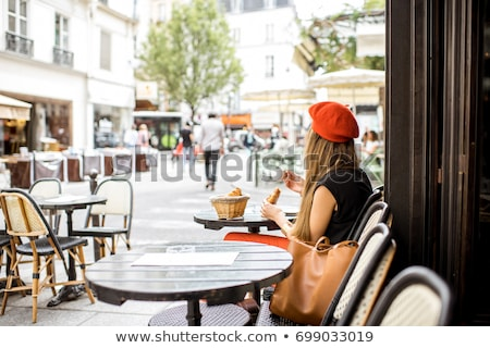 Servicio amor hombre mesa azul hotel Foto stock © Vg