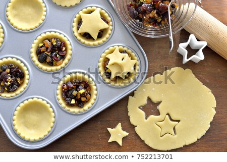 Stock photo: Making mince pies