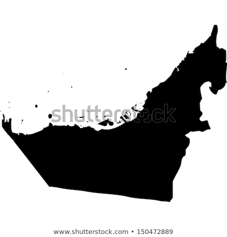 Mapa Emirados Árabes Unidos diferente branco abstrato Foto stock © mayboro1964