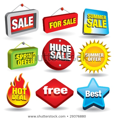 hot deals green vector icon button stock photo © rizwanali3d