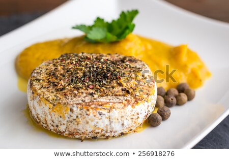 Grilled Camembert Cheese with Pumpkin Puree Stock photo © Kayco