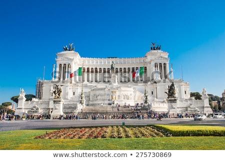 Róma Olaszország győztes ló utazás építészet Stock fotó © vladacanon