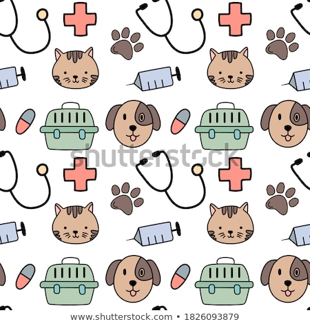 medical seamless pattern flat simple colorful icons stock photo © smeagorl