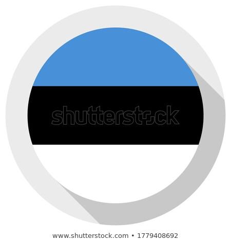 Sticker vlag Estland geïsoleerd witte reizen Stockfoto © MikhailMishchenko