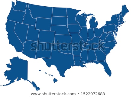 Wyoming térkép kék USA kép renderelt Stock fotó © tang90246