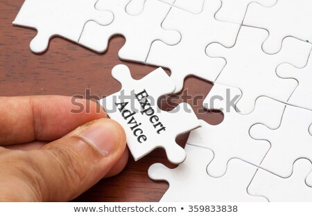 Consulting - Puzzle on the Place of Missing Pieces. Stock photo © tashatuvango