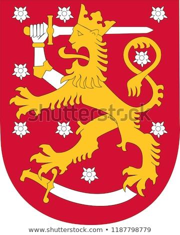 золото · эмблема · красочный · щит · изолированный · белый - Сток-фото © netkov1