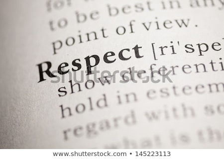 Dictionary definition respect  Stock photo © chris2766