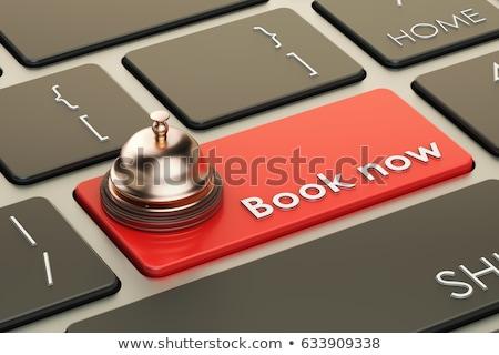 boek · nu · toetsenbord · metalen · Blauw - stockfoto © tashatuvango