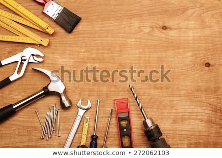Lakásfelújítás ezermester fúrás fa műhely belső Stock fotó © CandyboxPhoto