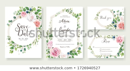 greeting card with floral elements stock photo © morphart