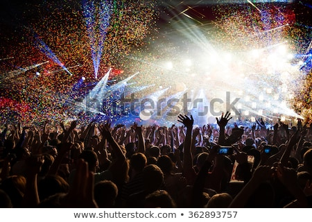Luces personas manos noche música Foto stock © tetkoren