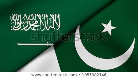 サウジアラビア パキスタン フラグ パズル 孤立した 白 ストックフォト © Istanbul2009