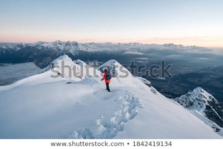 Trail in the snow Stock photo © Kotenko