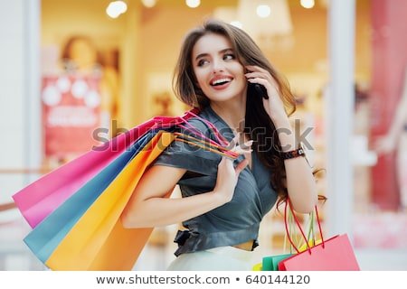 beautiful brown-haired woman in the hall  Stock photo © Paha_L