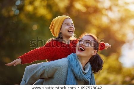 boldog · ősz · anya · gyermek · fa · arc - stock fotó © Paha_L