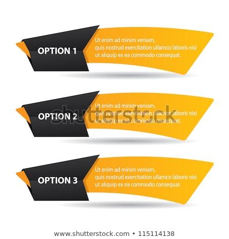 3 Number Vector Yellow Web Icon Stock photo © rizwanali3d