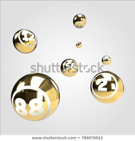 Bingo piłka kółko wzór żółty 3D Zdjęcia stock © elaine