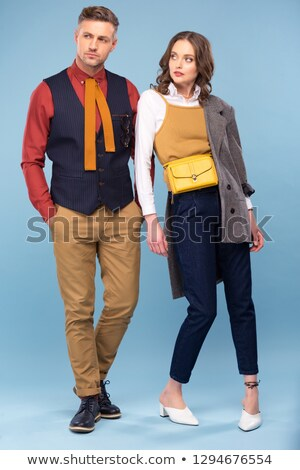 Vogue style studio shot of couple Stock photo © konradbak