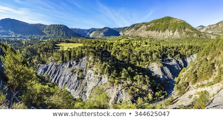 Stock photo: canyon with river La blanche Torrent