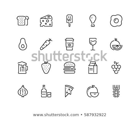 wortel · illustratie · tekening · lijn · kunst - stockfoto © rastudio