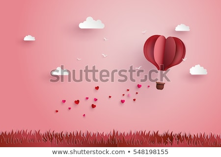 heart and love clouds stock photo © aleishaknight