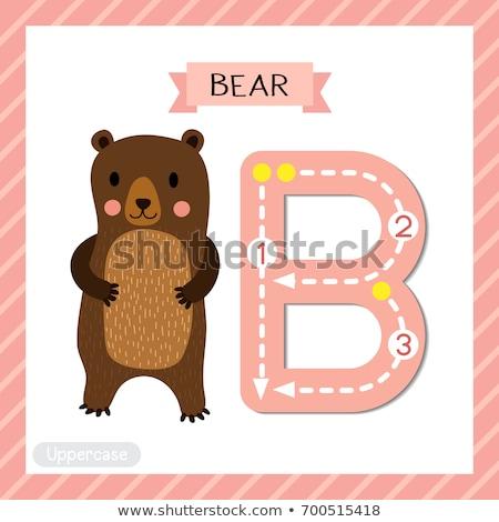 animaux · alphabet · ours · école · heureux · art - photo stock © bluering