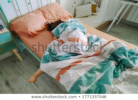 Wake up on wooden table Stock photo © fuzzbones0
