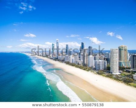 Sörfçü cennet Avustralya plaj otel binalar Stok fotoğraf © kraskoff