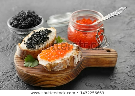 Rouge noir caviar oeuf fond Photo stock © M-studio