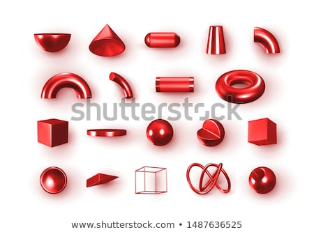 Abstract red 3D spheres Stock photo © gravityimaging
