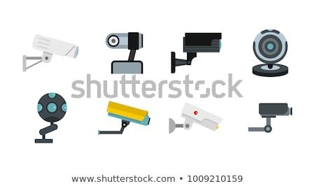 Wektora ukryty inwigilacja kamery stylu kolorowy Zdjęcia stock © TRIKONA