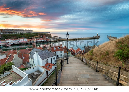 Vue regarder port marina nord yorkshire Photo stock © HJpix