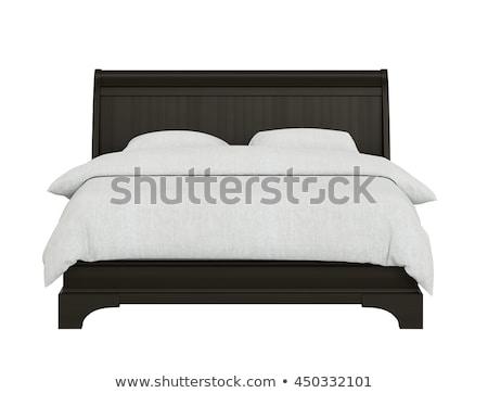 Bed biały 3D obraz sofa Zdjęcia stock © kash76