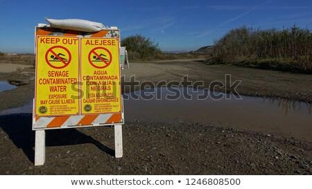Yellow signpost near ocean Stock photo © Hofmeester