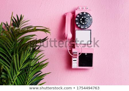 Klasik dizayn telefon kabin yeşil renk Stok fotoğraf © bluering
