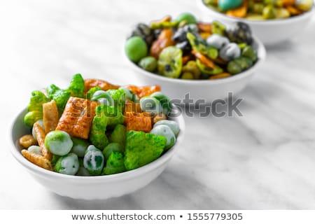 Wasabi puchar zielone grupy białe tło przekąska Zdjęcia stock © Digifoodstock